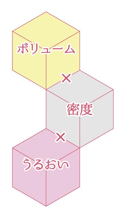 ボリューム×密度×うるおい