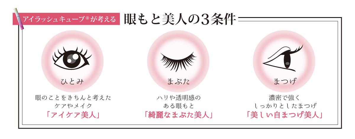 眼もと美人の3条件